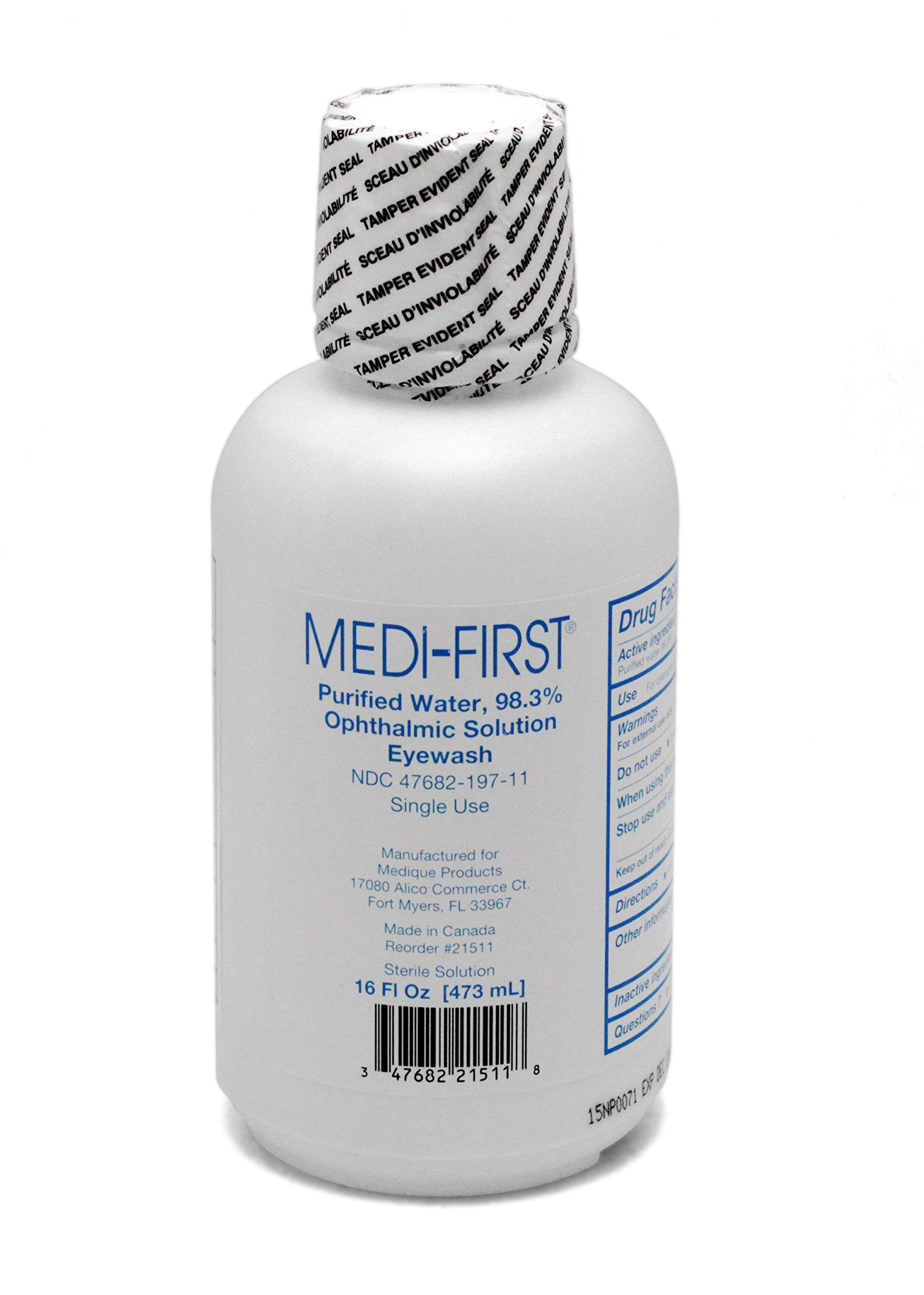 Eye Care - 16 Ounce Emergency Eye-Wash Bottle by Medique - MS55821 (1 Bottle)