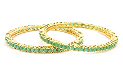 dianoor com lush jewellery emerald women bangles gemstone india for online