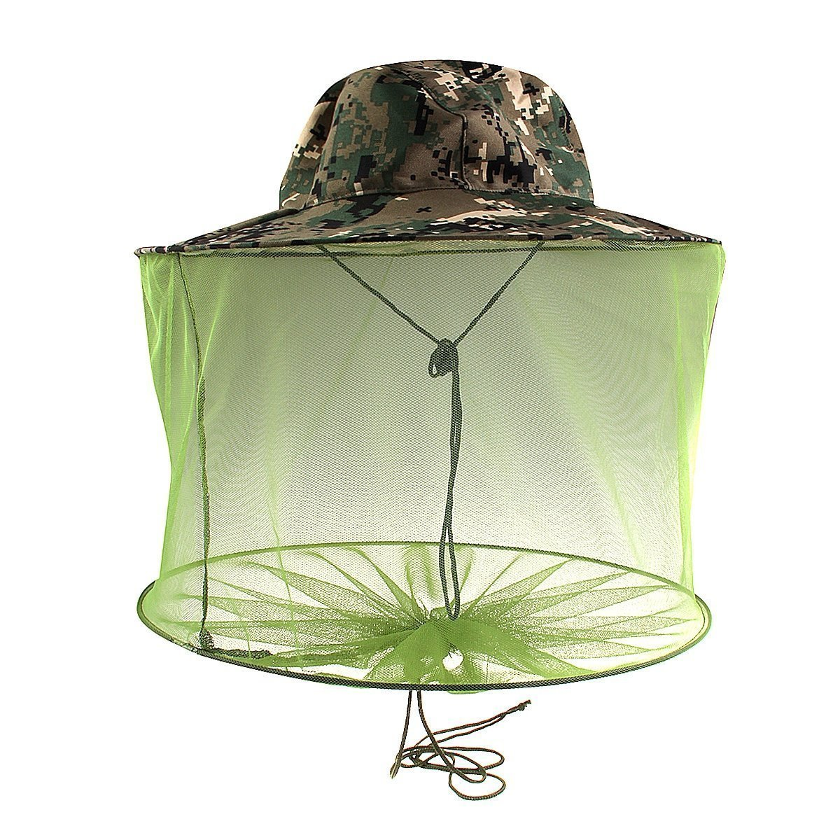 Yue life迷彩養蜂養蜂帽子anti-mosquito Beeバグ昆虫Hat with Head Netメッシュ B072MML662
