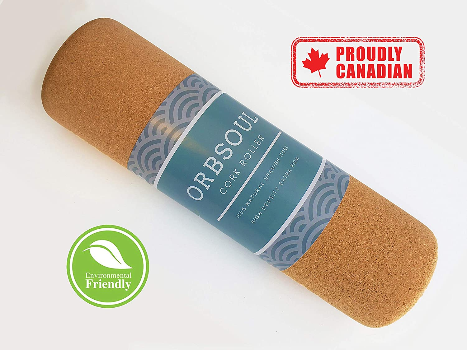 100 All Natural Spanish Cork Orbsoul Cork Massage Roller For Muscle Pain And Tension Relief Eco Friendly Sports Outdoors Sports Fitness