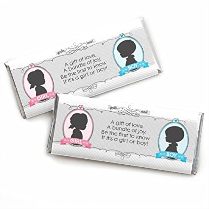Amazon.com  Gender Reveal - Candy Bar Wrappers Baby Shower or Gender ... 56ff628c1