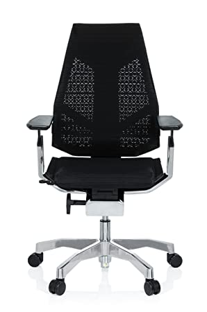 HJH Office 652601 Chaise Executive Genidia Tissu De Maille Noir Fauteuil Bureau Haut Gamme