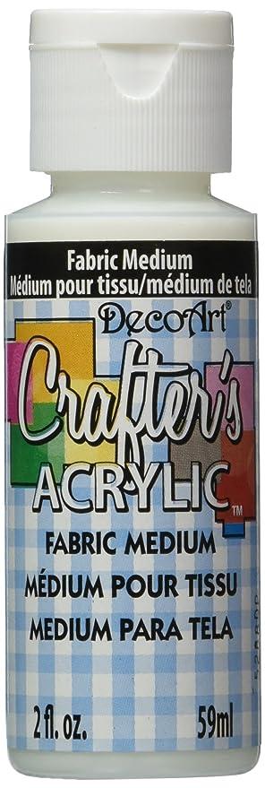 Decoart Crafter S Acrylic Paint 2 Ounce Fabric Medium