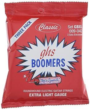 GHS Extra ligera para boom 9-42 cuerdas para guitarra eléctrica (juego de 3): Amazon.es: Instrumentos musicales