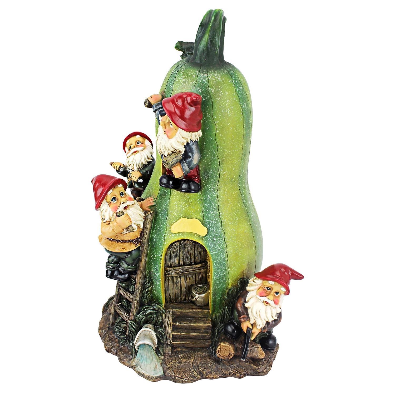Amazon.com : Garden Gnome Statue - Gnome Garden Gourd Homestead ...