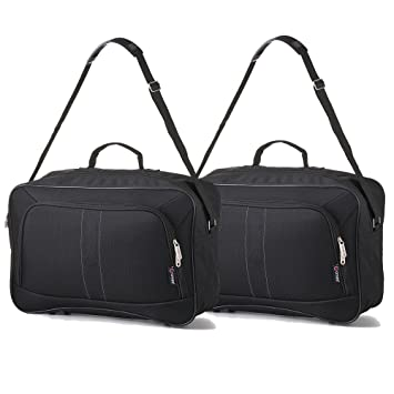 60374fba6d99 2 PCS 16-inch Carry On Hand Luggage Flight Duffle Personal or Underseat Bag  19L