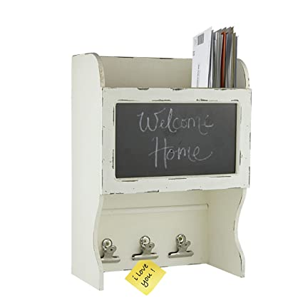 Decor Works   Wood Wall Chalkboard With Three Clips And Filing Bin    Blackboard   Message