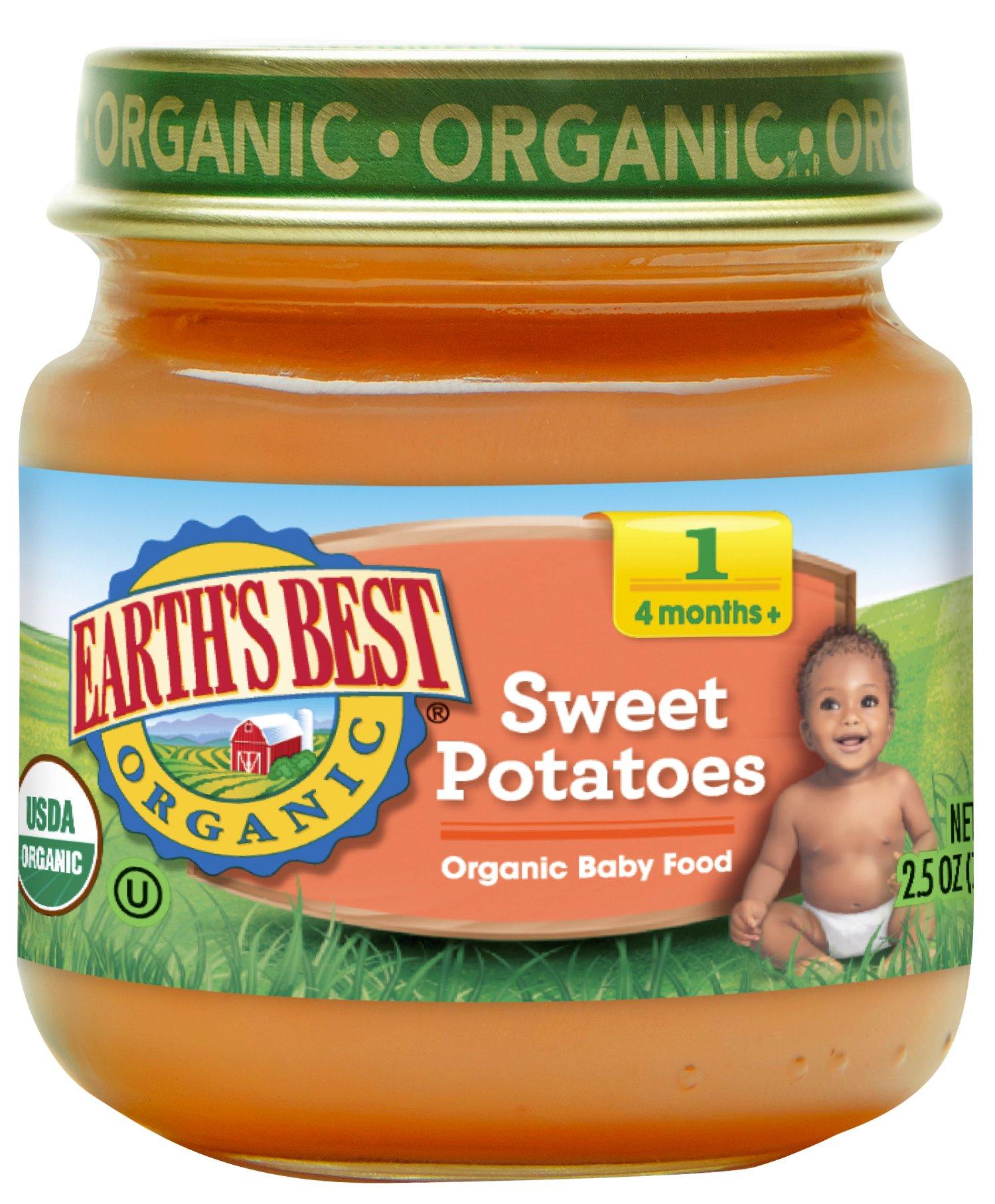 Earth's Best Organic Stage 1 Baby Food, Sweet Potato, 2.5 oz. Jar