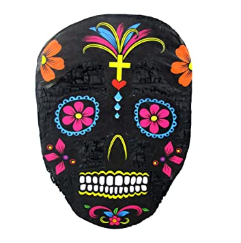 Day Of The Dead Skull Halloween Pinata Decoration Party Game And