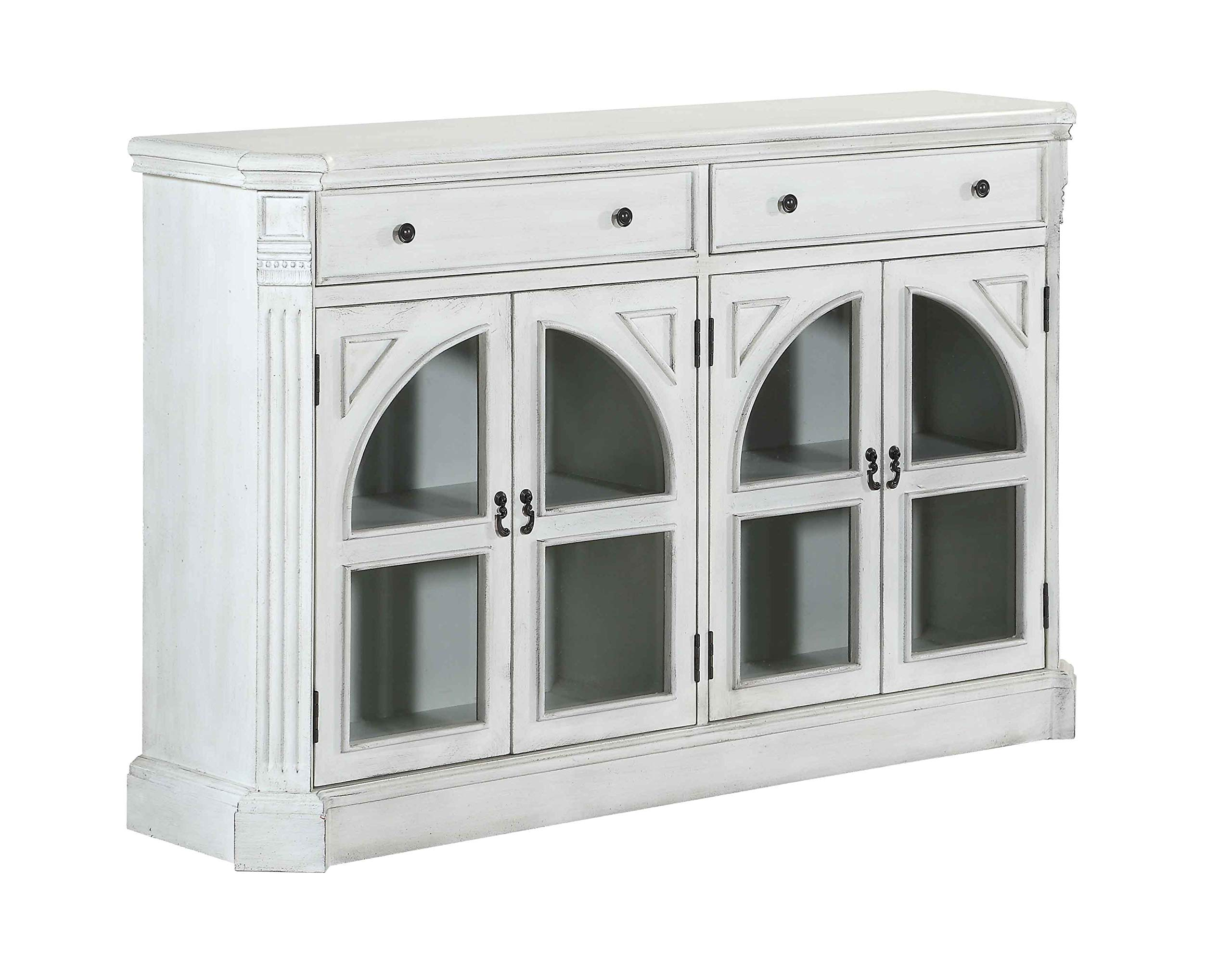 Coast to Coast Four Door Two Drawer Credenza, White by Coast to Coast