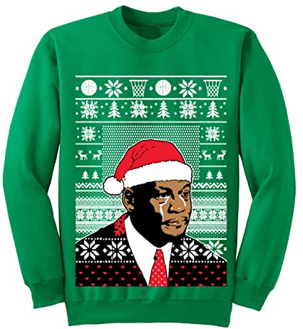 Adult Jordan Crying Meme Ugly Christmas Sweater Sweatshirt at ...