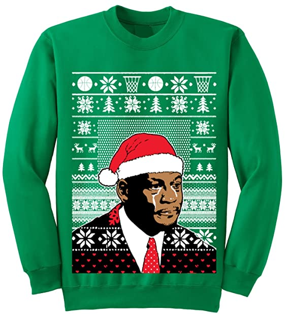 Adult Jordan Crying Meme Ugly Christmas Sweater Sweatshirt