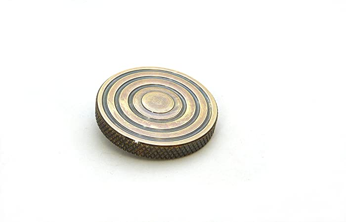 THE FLATTOP - AGED BRONZE HANDMADE EDC SPINNING TOP - MADE IN THE ...