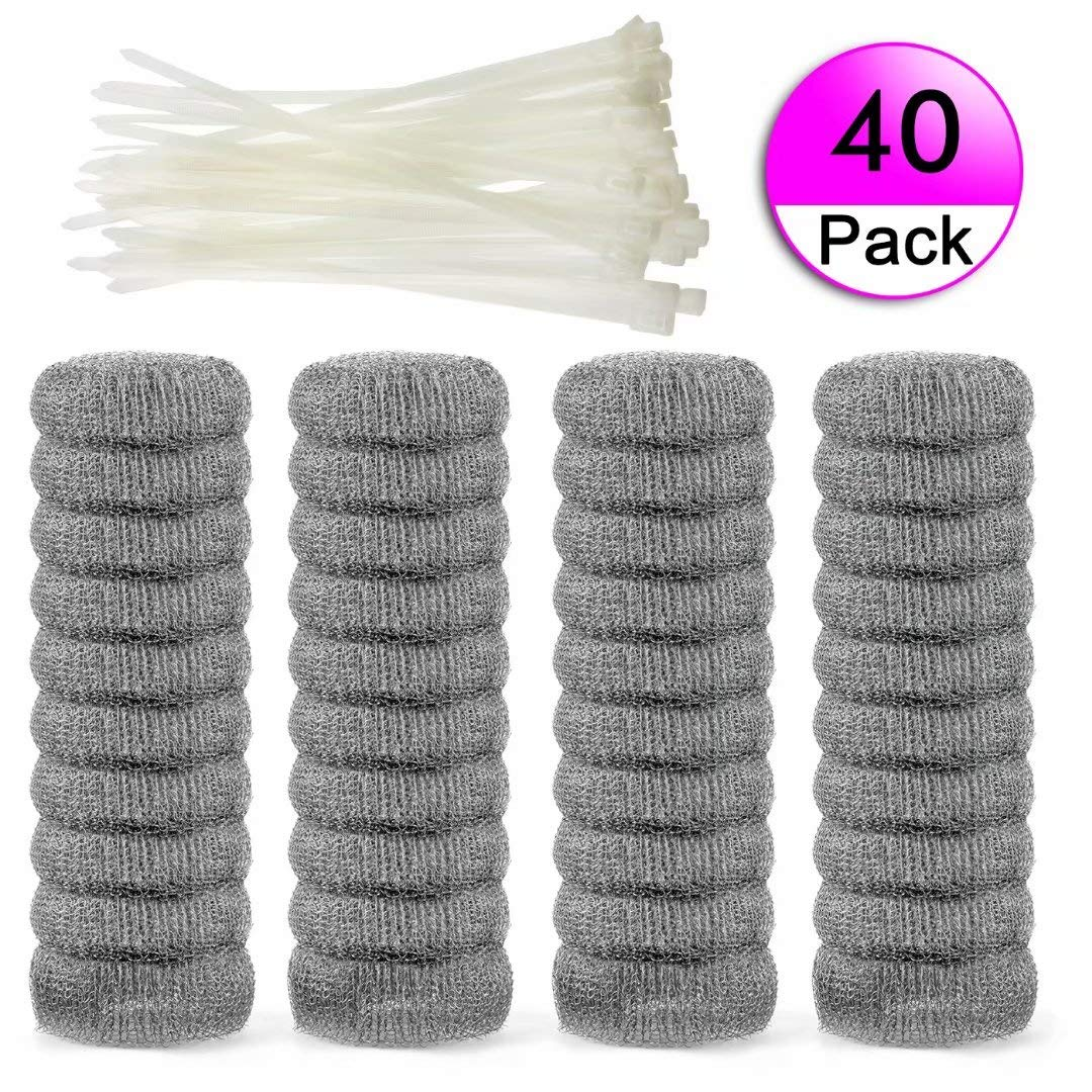 40 Pieces Lint Traps Stainless Steel (Never Rust) Washing Machine Lint Snare Traps, Washer Hose Lint Traps with 40 pcs Cable Ties