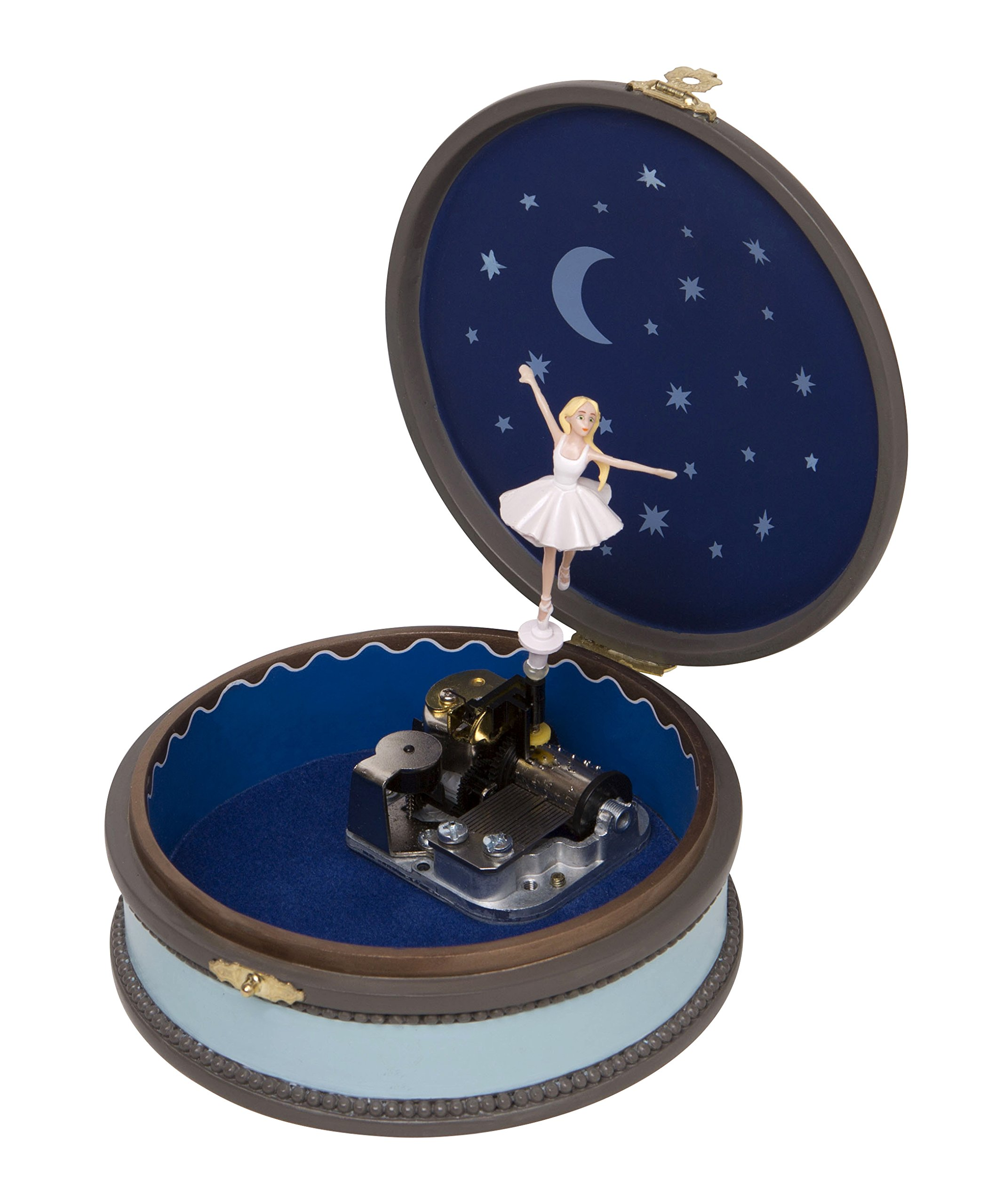 Trousselier - Ballerina - Leap© The Movie - Felicie'S Music Boxes - Musical Jewellery Box - Vintage - ! Very Fragile! - Ideal Young Girl's Gift - Music Swan Lake - Blue Color - 2 Count