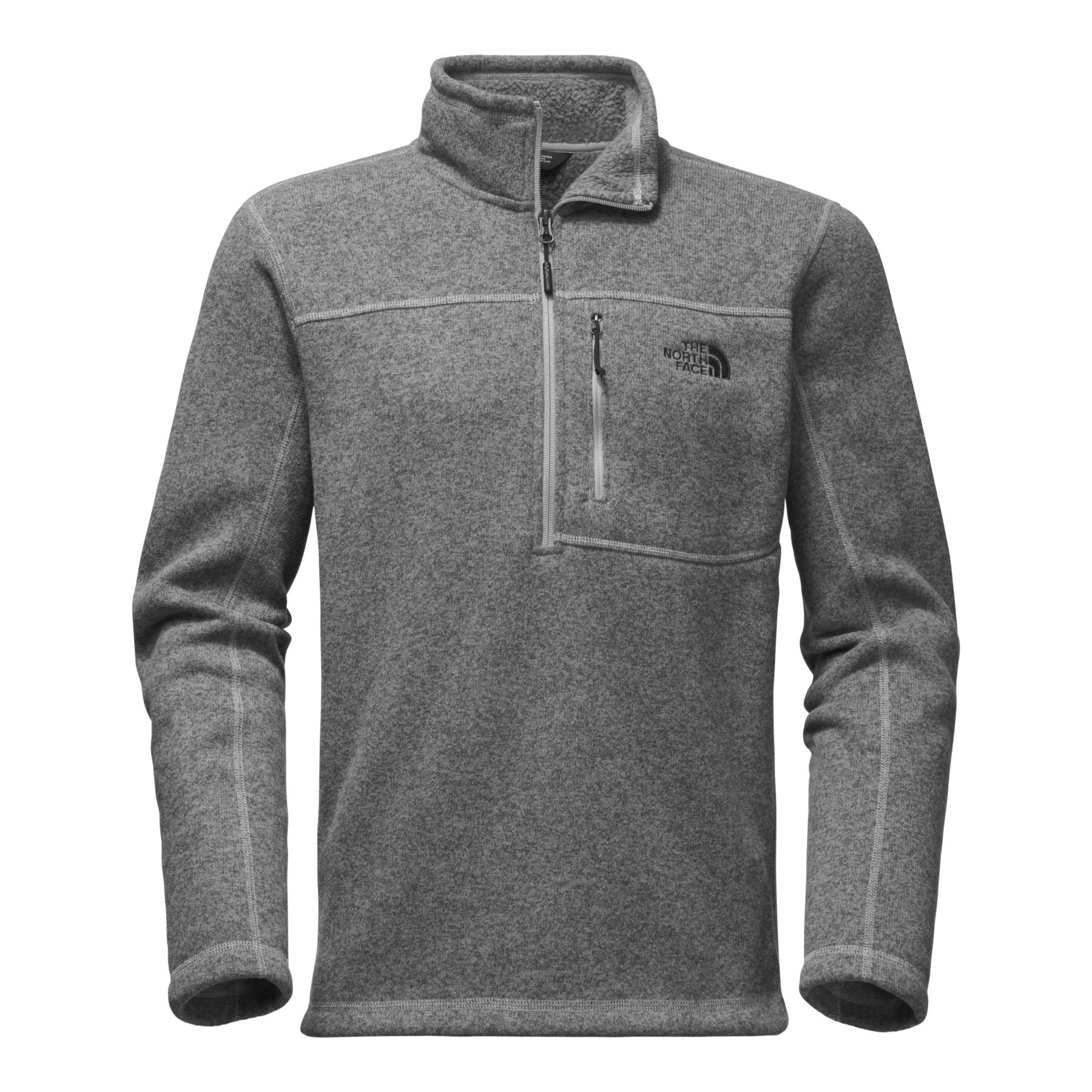 The North Face Men's Gordon Lyons 1 & 4 Zip - TNF Medium Grey Heather - L by The North Face (Image #1)