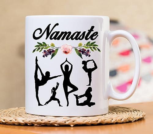 Amazon.com: Namaste Mug, Namaste Mug, Yoga Mug, Yoga gift ...