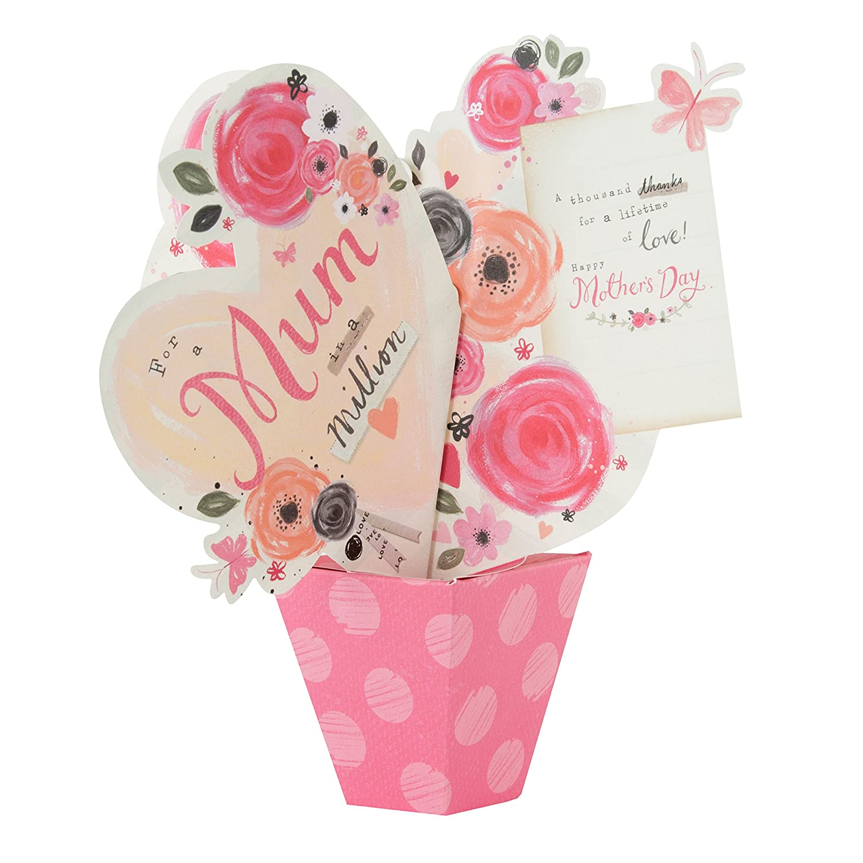 Hallmark Mother s Day Card For Mum Pop Up Bouquet Medium Amazon