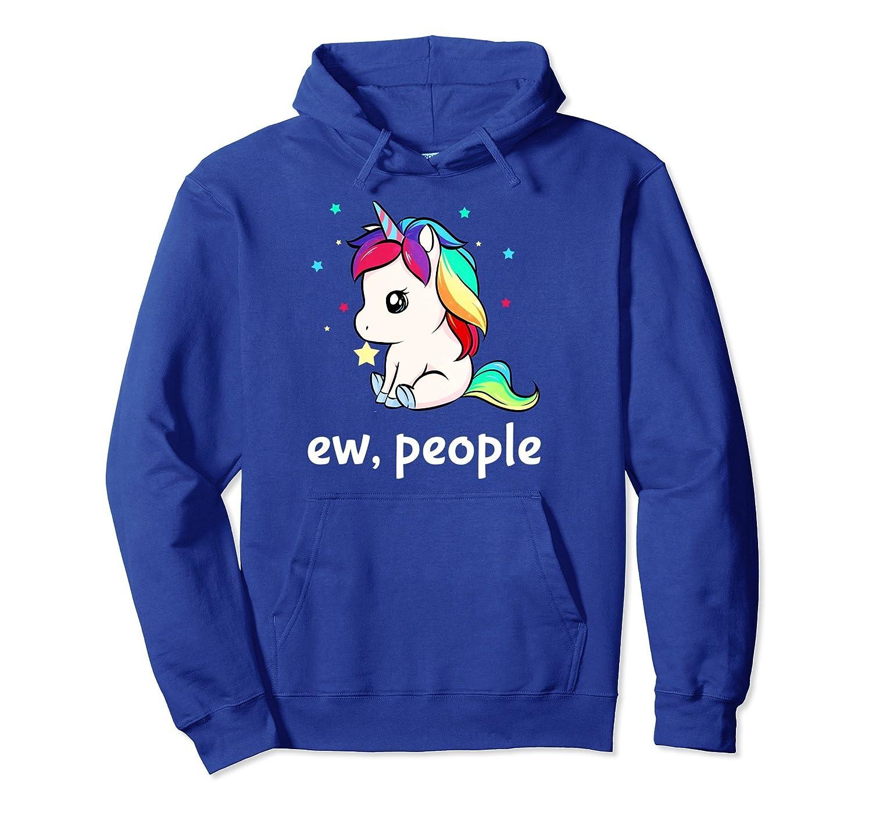 Ew People Unicorn Hoodie For Girls Women-mt