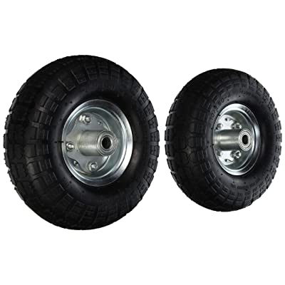 Pit Bull CHIT0012 AIR Tires Wheels, 10.00 x 6.00 x 10.00, White: Home Improvement