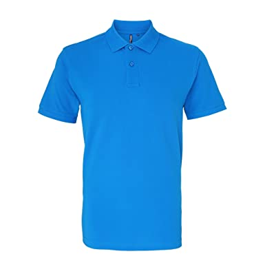 1de44da6 Image Unavailable. Image not available for. Colour: Asquith & Fox Mens  Plain Short Sleeve Polo Shirt ...