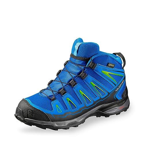 sports shoes a5449 85dc6 Salomon Unisex-Kinder X-Ultra Mid GTX J Trekking- & Wanderhalbschuhe, blau,  36 EU