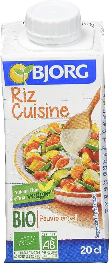 Bjorg Riz Cuisine 20 Cl Lot De 8 Amazon Fr Epicerie
