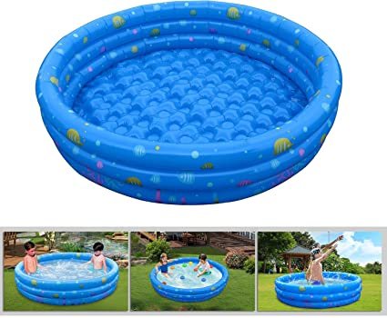 GPCT 【Inflatable】 [52 INCH] Collapsible Bathing in-Home/Ball Pit Kiddie  Baby Swimming Pool. Durable, Heavy Duty, Bathing Bath Tub Wash Pond Water  ...
