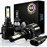 JDM ASTAR G2 8000 Lumens Extremely Bright CSP Chips 9006 All-in-One LED Headlight Bulbs Conversion Kit, Xenon White
