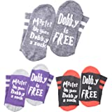 Master Has Given Dobby a Sock Dobby is Free Funny Crew socks Gift