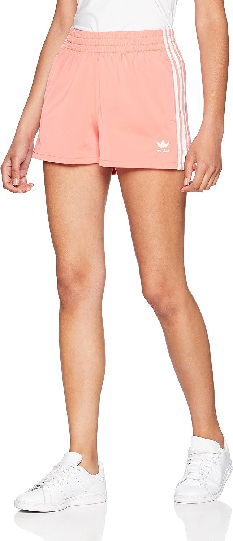 TALLA 28. adidas 3 Stripes Pantalón Corto, Mujer rosa (rubmis) 28