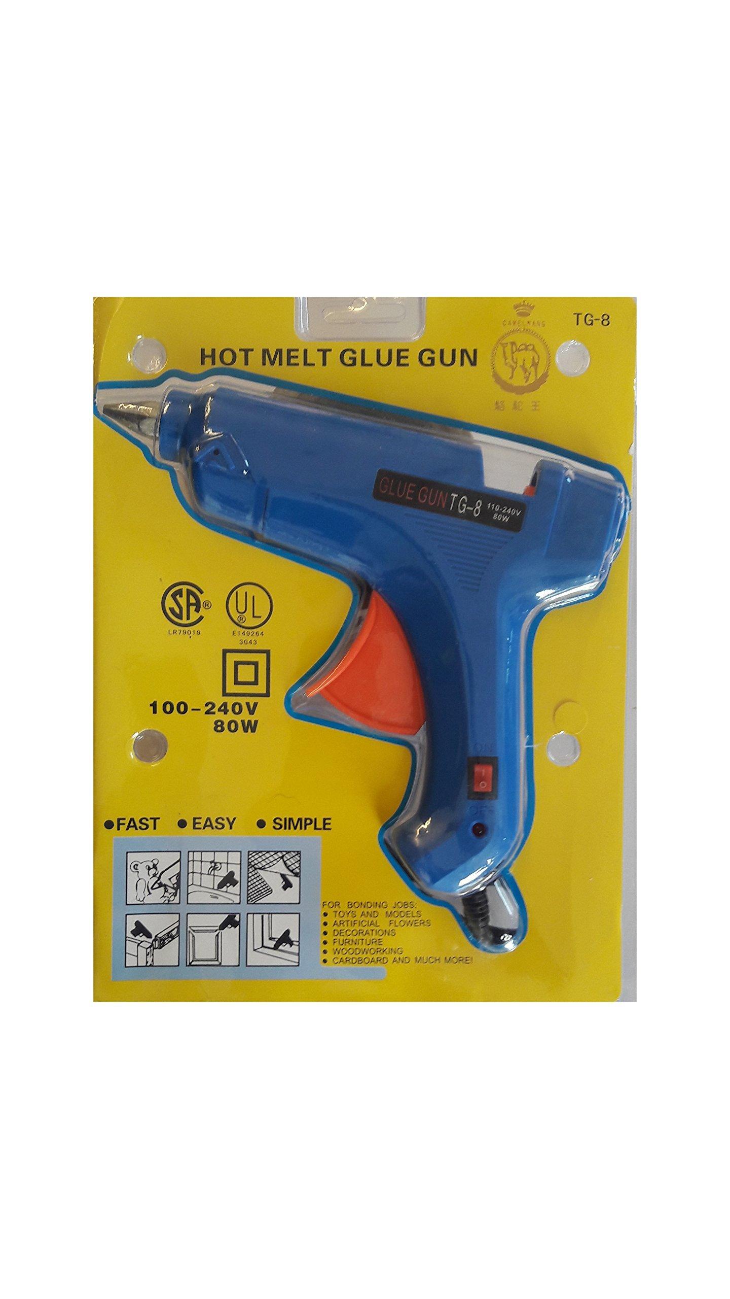 Heirloom Quality Tg-8 80 Watt Hot Glue Gun With Glue Sticks (10 Sticks)
