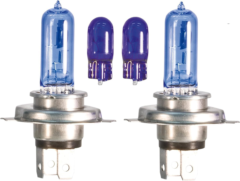 Superlite BOM12589 Juego de Bombillas Spectras Faro H4 6.000 K con 2 Posici/ón Blanco