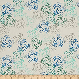 Cotton + Steel Raindrop Puddle Jump Sea Fabric By The Yard