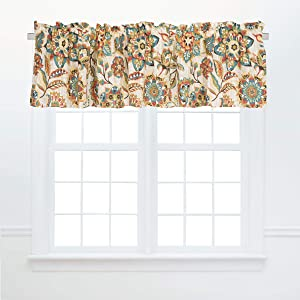 C&F Home Fiona Jacobean Cotton Window Treatment Curtain Valance Floral Flowers Vintage Boho Bohemian Modern Colorful Fall Autumn 72