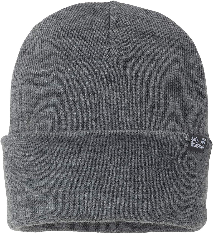 Grey Heather One Size 21 5//8-23 2//8 INCH Jack Wolfskin Rib Hat