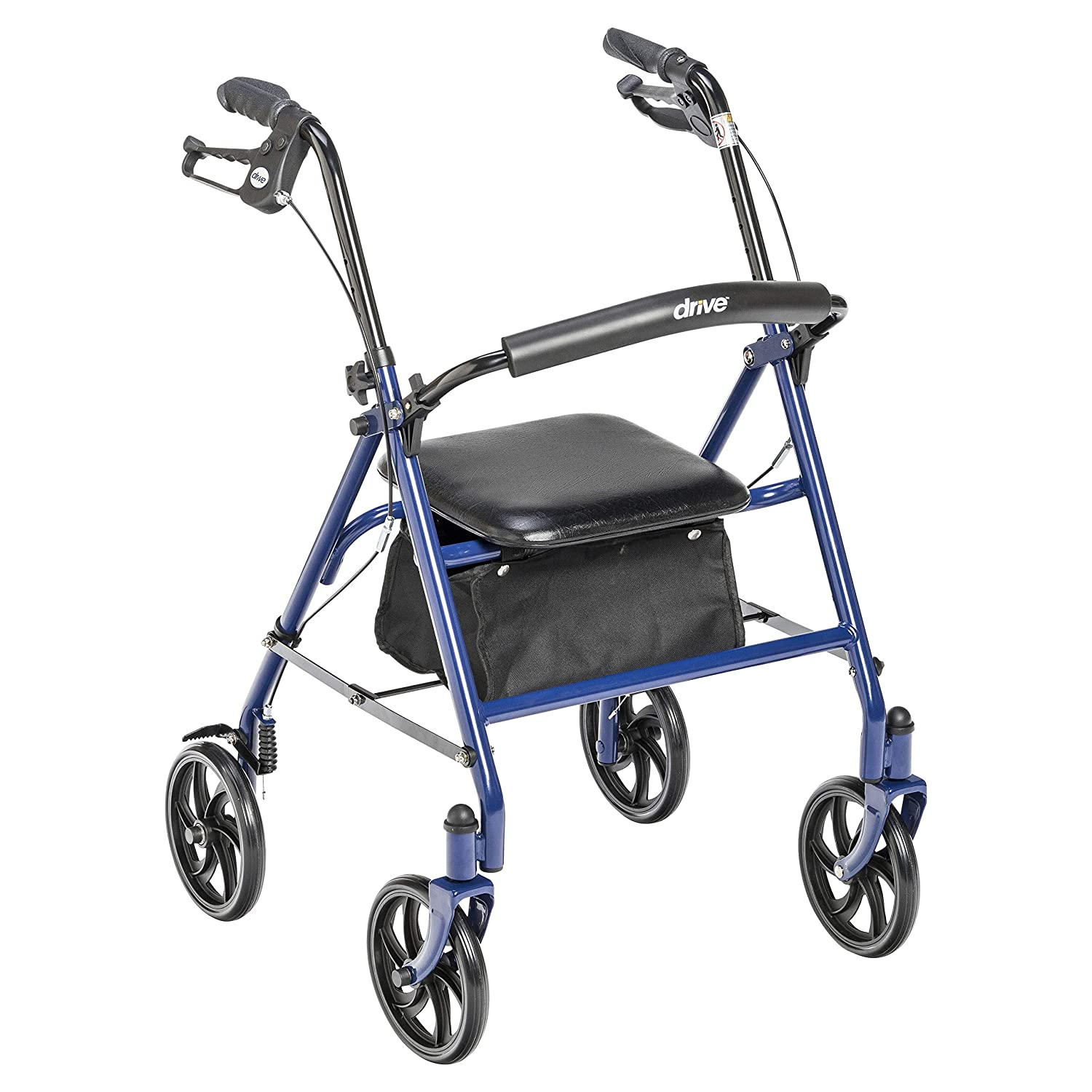 Drive Medical Four Wheel Walker Rollator with Fold Up Removable Back Support 812BaO2BdMDjL