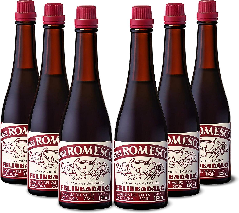 Feliubadaló - Salsa Romesco 180 ml - [Pack 6 unidades]: Amazon.es: Alimentación y bebidas