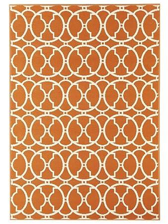 Outdoor Teppich Fur Terrasse Balkon Vitaminic Interlaced Orange