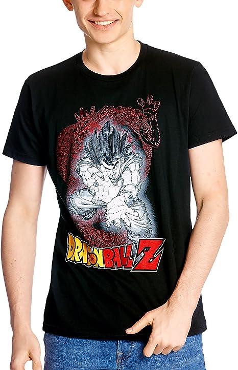 Elbenwald Camiseta de Hombre de Dragon Ball Son Goku Kamehameha algodón Negro: Amazon.es: Ropa y accesorios