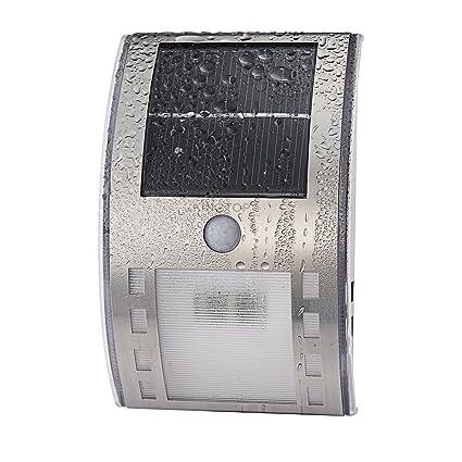 KingTop impermeable Luz Solar LED Motion Sensor de luz al aire libre Patio incluyendo, Hall