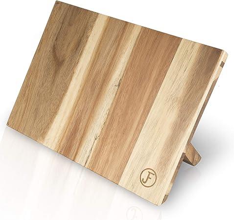 Küche Holz Messerblock Messerhalter aus Bambus mit Rutschfeste Gummifüße
