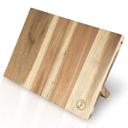 J. Frederic - Soporte magnético para Cuchillos de Cocina (Madera de Acacia, con imán Extra Fuerte y diseño extraancho)