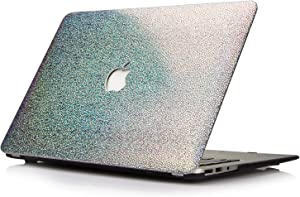 Funut MacBook Air 11 inch Case, Leather Hard PC Case Slim Mac Air 11 Protective Case Cover for MacBook Air 11.6 inch (Models: A1370 / A1465) Shiny Silver