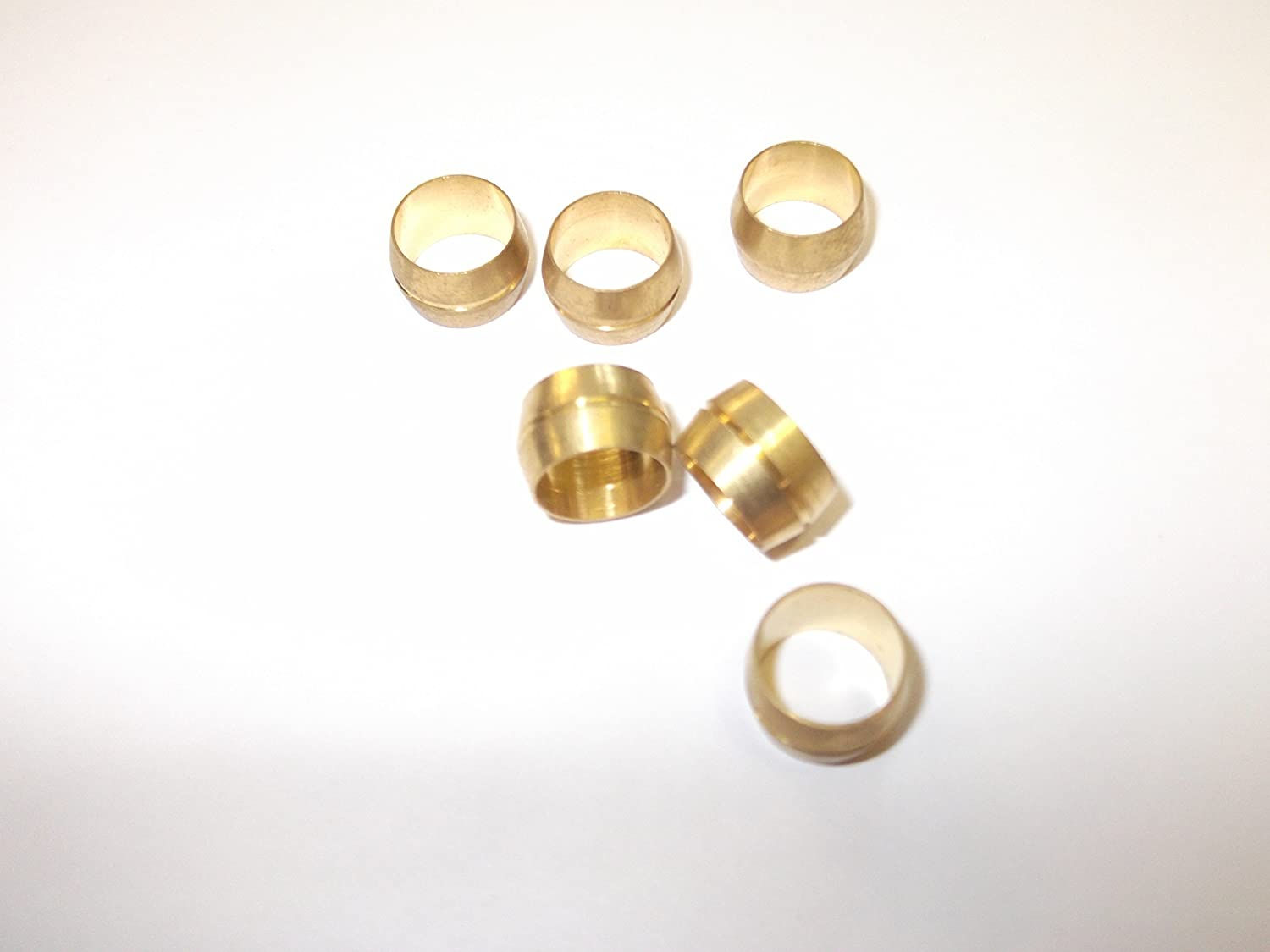 6 x 20mm Brass Olives Compression Pipe Fitting Metric Taps Sink Bath Shower