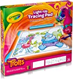 Crayola; Trolls Light-up Tracing Pad; Art Tool; Bright LEDs; Easy Tracing with 1 Pencil, 12 Colored Pencils, 10 Blank…