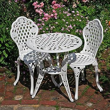 Lazy Susan Furniture - Rose Bistro Set - Bistro Table with 2 ...