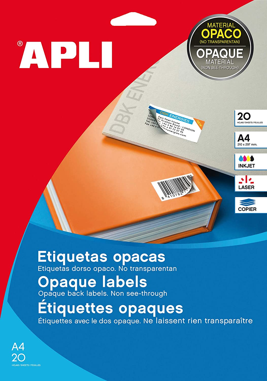 Apli 10198 - Etiquetas, 25 hojas: Amazon.es: Oficina y papelería