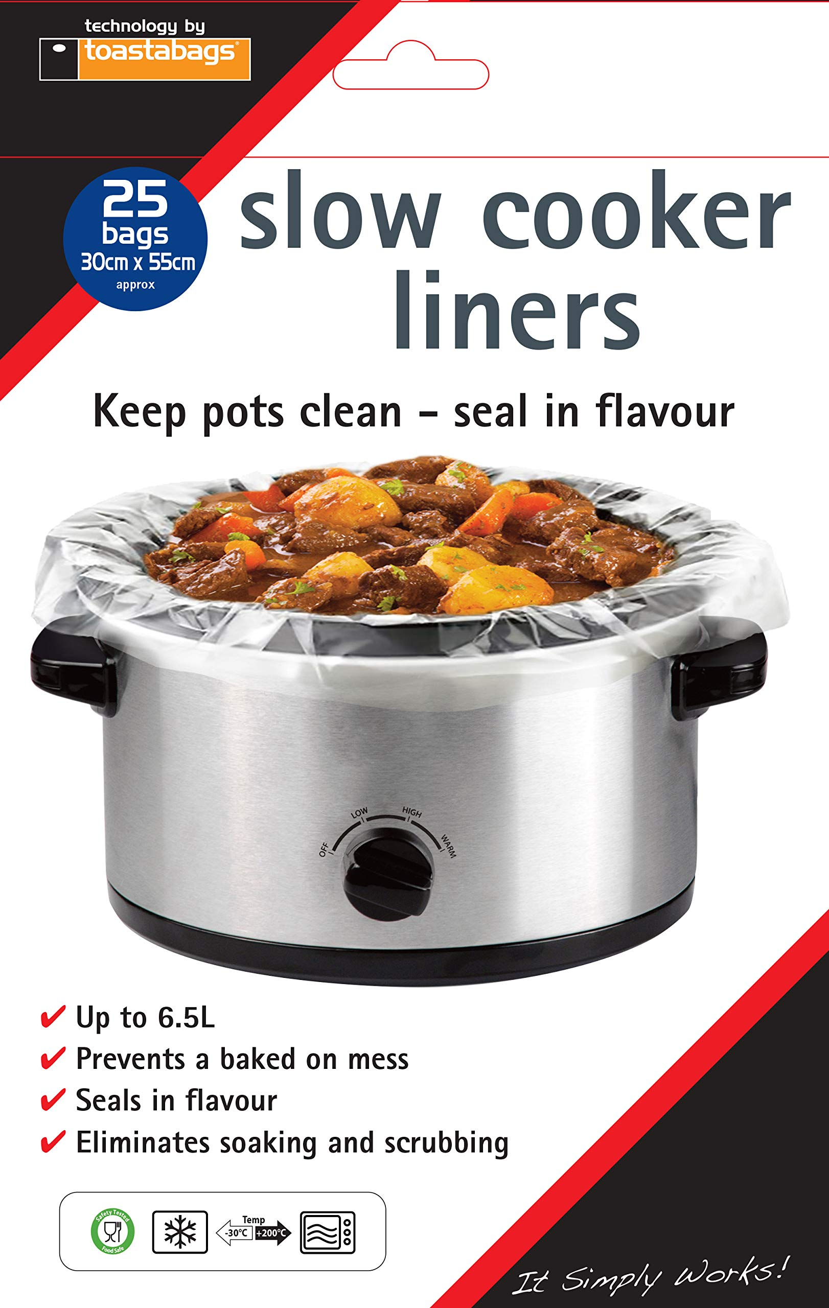 Large Size 13 x 21 Inch WRAPOK Slow Cooker Liners Cooking Bags BPA Free for Oval or Round Pot Fits 3 to 8.5 Quarts 10 Bags Total 1 Pack