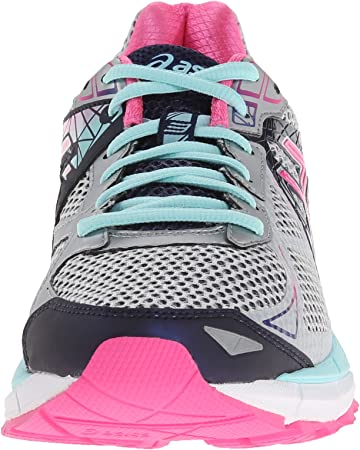 Asics GT-2000 3 Fibra sintética Zapato para Correr, Lightning/Hot Pink/Navy, 37